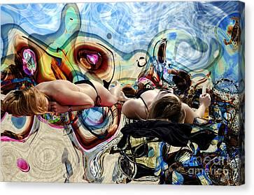 Beach Dreaming Canvas Print by John Rizzuto