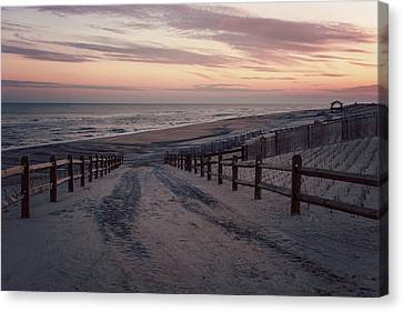 Beach Entrance Lbi New Jersey Vintage  Canvas Print