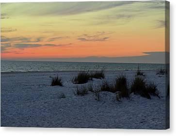 Canvas Print featuring the photograph Beach Evening Tones by Deborah  Crew-Johnson