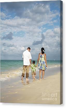 Beach Family Canvas Print by Brandon Tabiolo - Printscapes