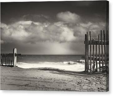 Beach Fence - Wellfleet Cape Cod Canvas Print by Dapixara Art