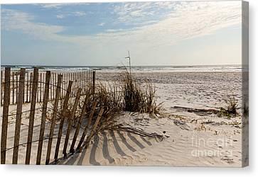 Beach Fence St Augustine Florida Canvas Print by Michelle Wiarda