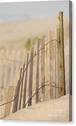 Beach Fences Canvas Print by A New Focus Photography