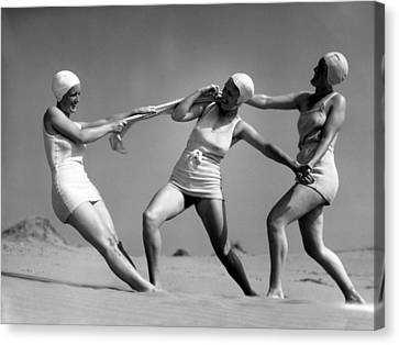 Beach Fight Canvas Print by Chaloner Woods