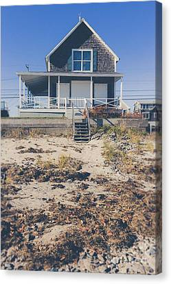 Beach Front Cottage Canvas Print by Edward Fielding