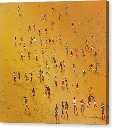 Beach Games Canvas Print