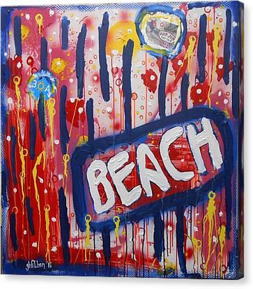 Beach Canvas Print by Gh FiLben
