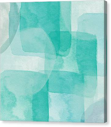 Beach Glass- Abstract Art By Linda Woods Canvas Print by Linda Woods