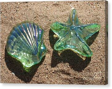 Canvas Print featuring the photograph Beach Glass by Cindy Lee Longhini