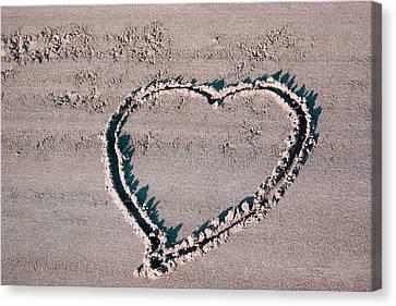 Beach Heart Canvas Print