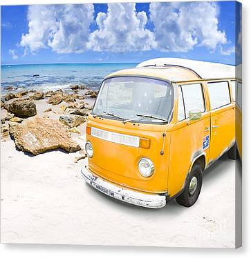 Volkswagon Canvas Print - Beach Holiday by Jorgo Photography - Wall Art Gallery