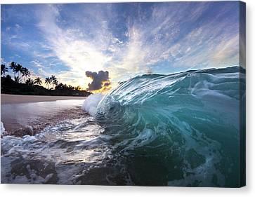 Surrealistic Canvas Print - Beach Hook by Sean Davey