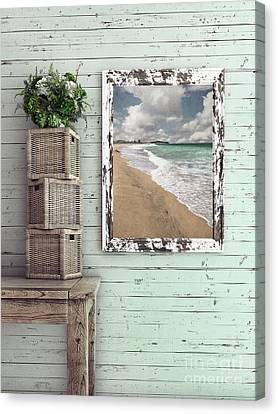 Canvas Print featuring the photograph Beach House By Kaye Menner by Kaye Menner