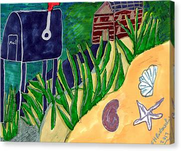 Beach House Canvas Print by Elinor Helen Rakowski