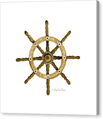 Beach House Nautical Boat Ship Anchor Vintage Canvas Print by Audrey Jeanne Roberts