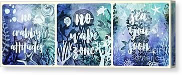 Canvas Print - Beach House Rules Series by Mo T