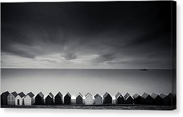 Beach Huts Canvas Print by Www.matthewtoynbee.net
