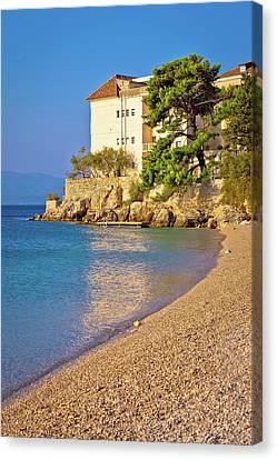 Beach In Bol Vertical View Canvas Print