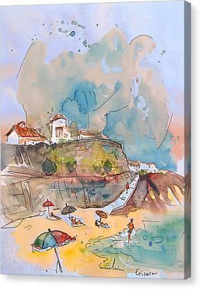 Beach In Ericeira In Portugal Canvas Print by Miki De Goodaboom
