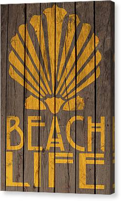 Beach Life Sign Canvas Print by WB Johnston