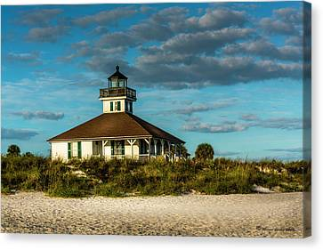 Beach Lighthouse Canvas Print by Marvin Spates