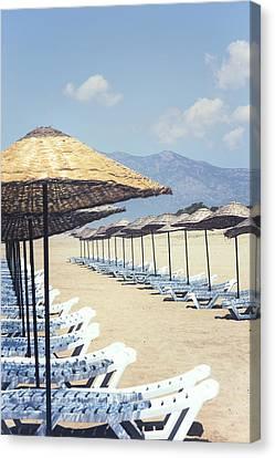 Beach Loungers Canvas Print