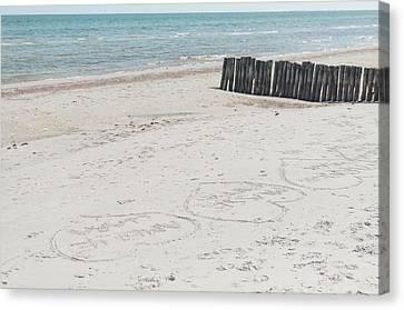 Beach Love Canvas Print by Marcus Karlsson Sall