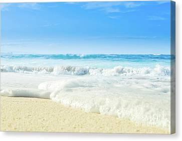 Canvas Print featuring the photograph Beach Love Summer Sanctuary by Sharon Mau