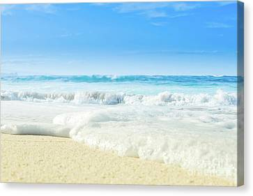 Canvas Print featuring the photograph Beach Love Summer Sanctuary by Sharon Mau