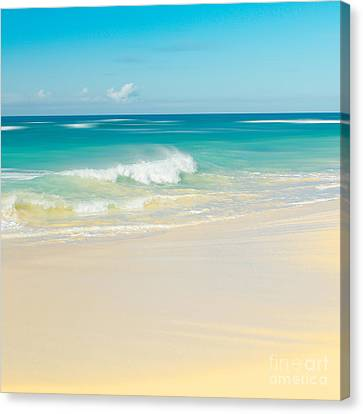 Beach Love The Secret Heart Of Wonder Canvas Print by Sharon Mau