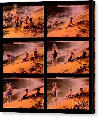 Beach Memories Canvas Print by Madeline Ellis