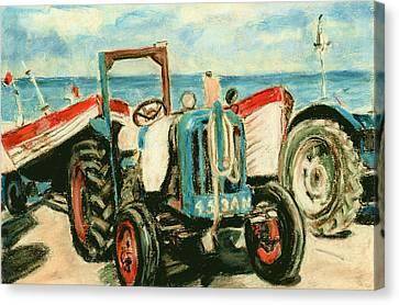 Beach Near Cromer Norfolk Uk Canvas Print by Judy Adamson