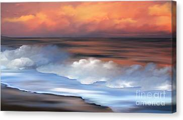 Beach Oasis Canvas Print by Anthony Fishburne