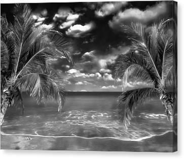 Beach Of Forgotten Colours Canvas Print by Gabriella Weninger - David