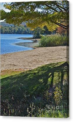 Beach On The Lake Canvas Print by Andrea Simon