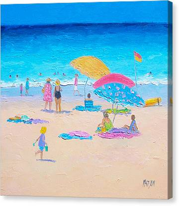 Beach Painting - Colors Of Summer  Canvas Print by Jan Matson