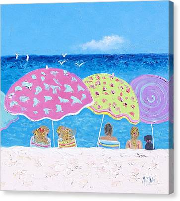 Beach Painting - Lazy Summer Days Canvas Print by Jan Matson