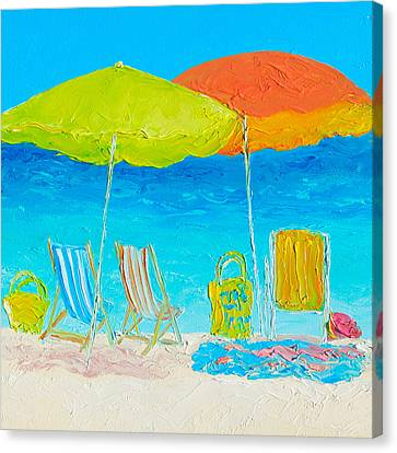 Seashore Canvas Print - Beach Painting - Sunny Days by Jan Matson