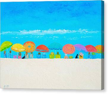 Beach Painting - Those Lazy Days Of Summer Canvas Print by Jan Matson