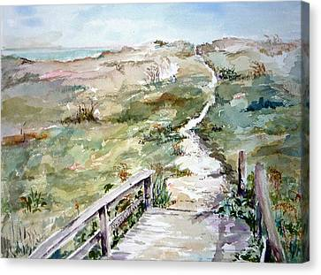 Beach Path Canvas Print by Dorothy Herron
