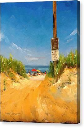 Beach Path Canvas Print by Laura Lee Zanghetti