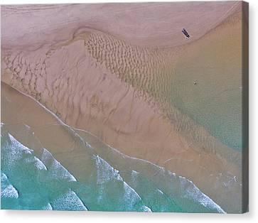 Beach Patterns At North Point On Moreton Island Canvas Print