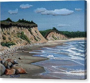 Sandy Beach Canvas Print - Beach by Paul Walsh