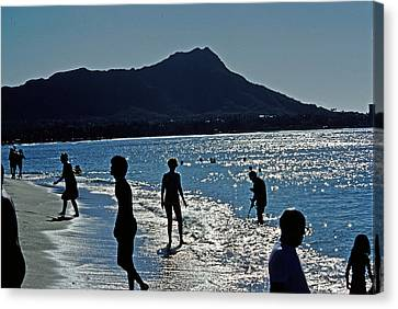 Beach People Canvas Print