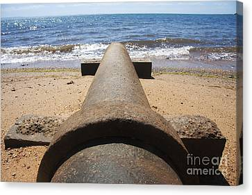 Beach Pipeline Canvas Print