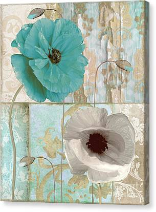 Beach Poppies II Canvas Print by Mindy Sommers