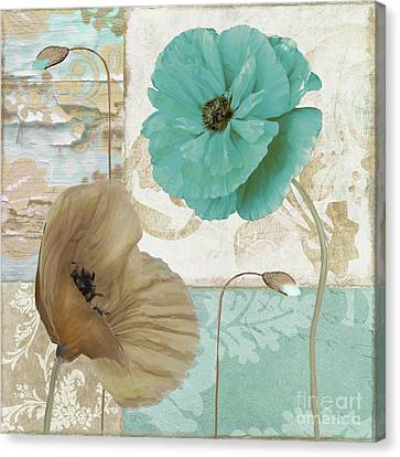 Beach Poppies IIi Canvas Print by Mindy Sommers