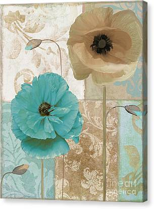 Beach Poppies Canvas Print by Mindy Sommers