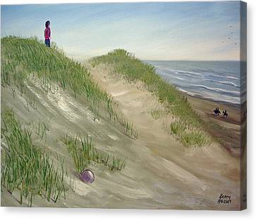 Canvas Print featuring the mixed media Beach Prize by Kenny Henson