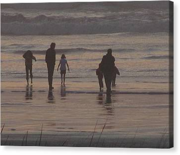 Beach Quality Time Canvas Print by Gregory Smith